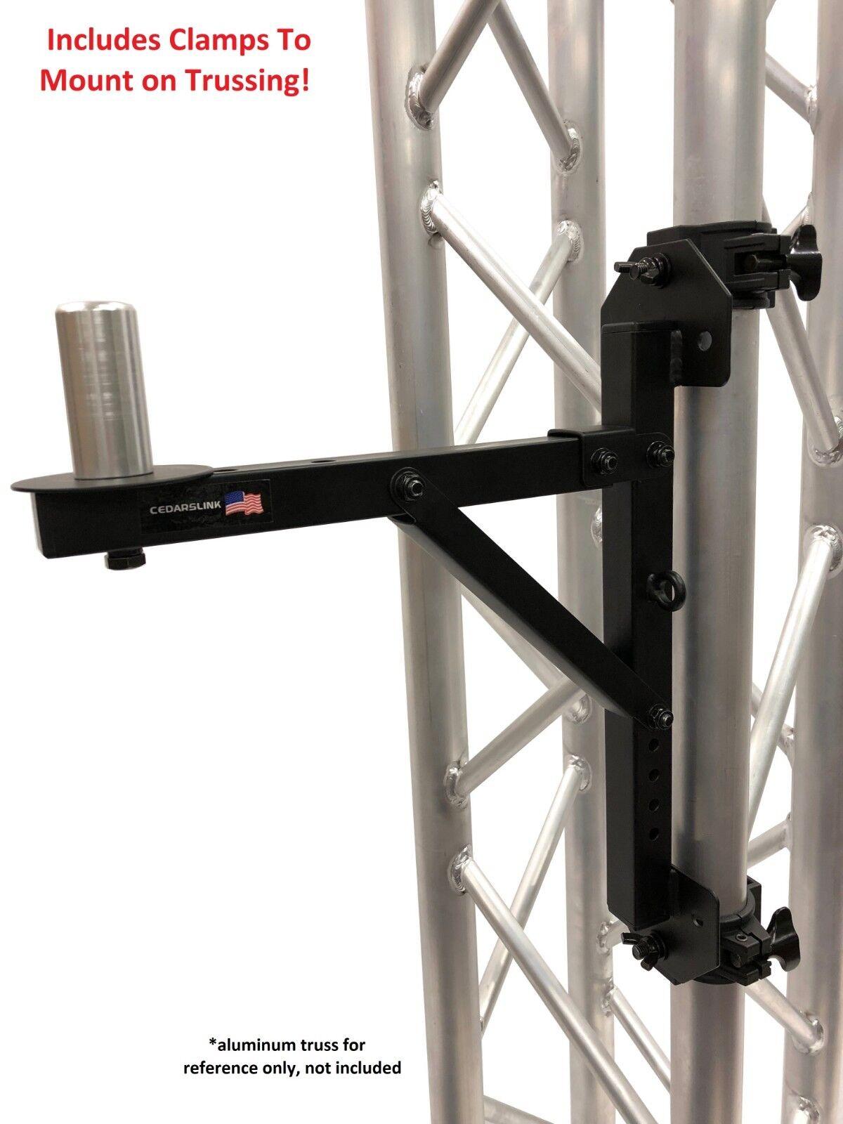 PA Speaker Wall Mount Bracket - Pro-Audio Stand Post Holder
