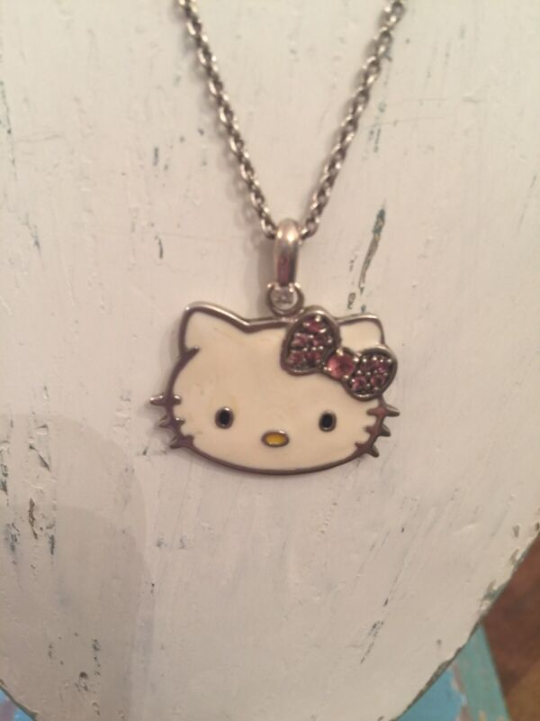 Hello Kitty Limited Edition Sterling Silver, Enamel And Pink Tourmaline Necklace