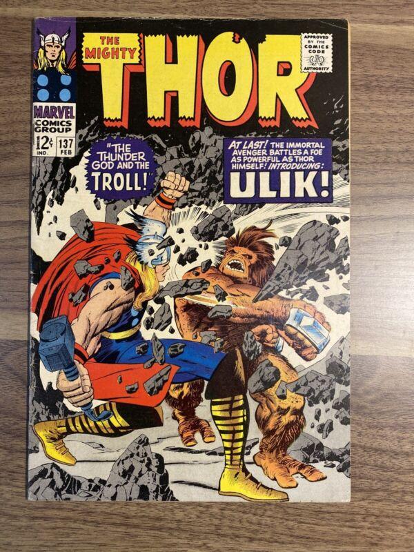 Thor 137 1st Ulik & Mogol! Stan Lee & Jack Kirby!