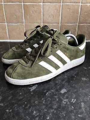 Adidas Originals Munchen size 9 Khaki / Olive