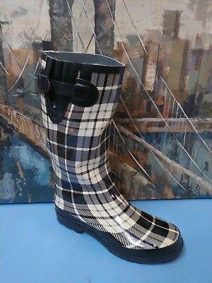 Personal Identity Womens Rain Boots Black Cream Size 9 - Personalized Boots