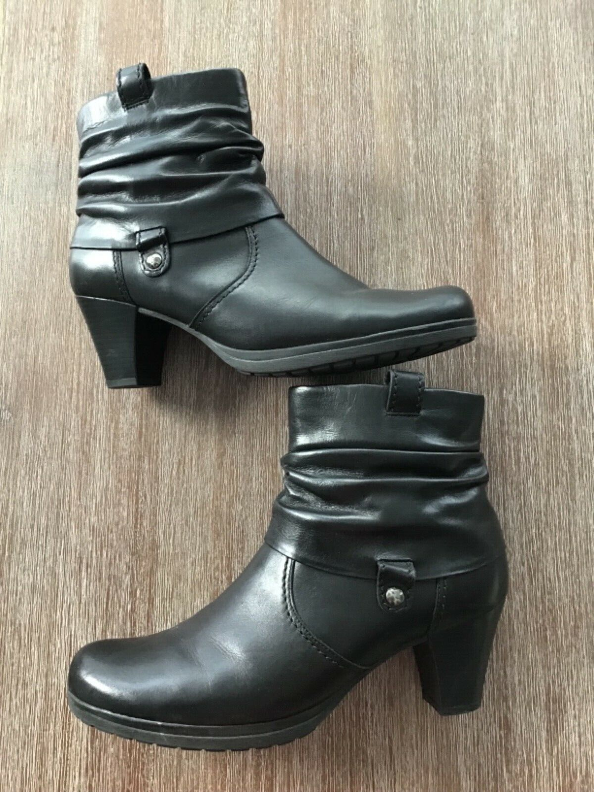 Neu Gabor Damen Stiefeletten schwarz Gr.41 UK8 Echtleder Ankle Boots