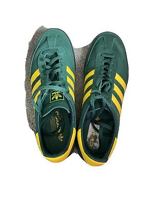 MENS GREEN AND YELLOW ADIDAS JEANS Trainers Size 8 / 42