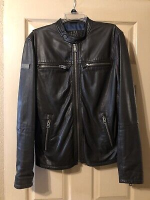 Superdry Leather Jacket Mens (Small)