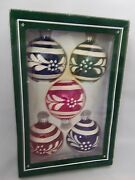 Vintage Striped Christmas Ornaments