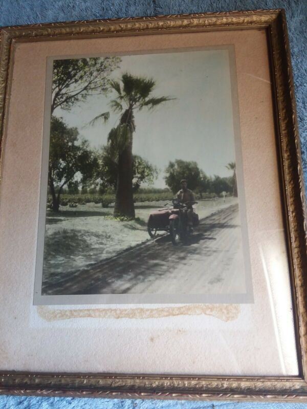 1926 Photo of Motorcycle with sidecar of actor James Burke  6x10 orginal photo