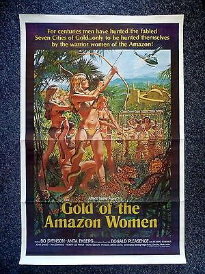 Gold Of The Amazon Women Original 1979 One Sheet Movie Poster Anita Ekberg