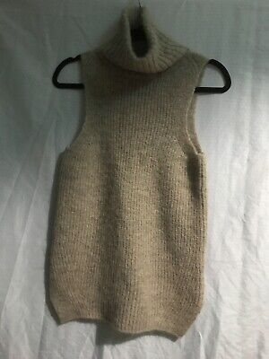 JOIE SWEATER SLEEVELES SIZE XXS COLOR MOUSSE ACRYLIC/NYLON NEW Acrylic Colored Sweater