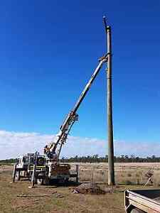 Power poles , farm sheds, shed piers,house piers,site cleanups Southbrook Toowoomba Surrounds Preview