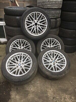 Genuine BMW 18'' Alloy Wheels MV1 Style with Tyres 3 Series E46 Set Of 5
