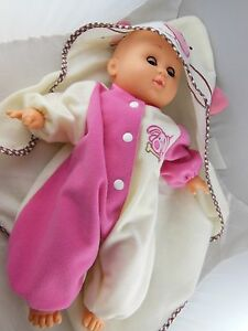 Adorable-13-Baby-Doll-with-Cloth-Torso-Vinyl-Limbs-Great-Gift-Doll-GG-94