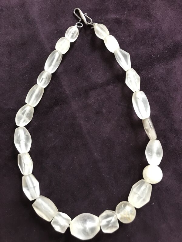 Old Rock Quartz Crystal Collectible Beads Necklace