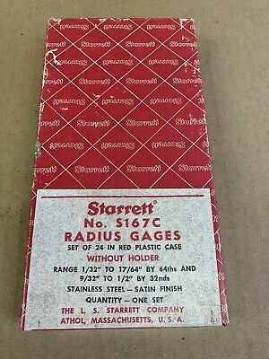 Starrett Stainless Steel Radius Gage Set Machinist Tool W Case Box No. S167c