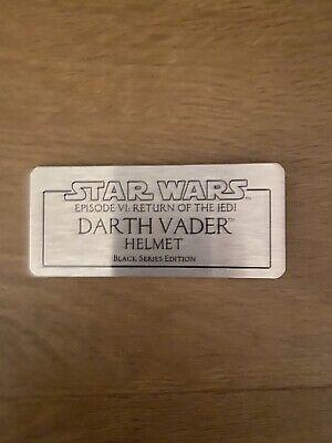 Star Wars The Black Series Darth Vader Helmet Plaque