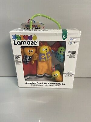 Lamaze Gardenbug Foot Finder And Wrist Rattle Baby Toys Infant