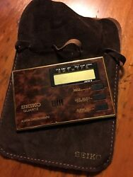 Vintage New Seiko Quartz Digital Compact Travel Alarm Chronograph Clock QEK151B