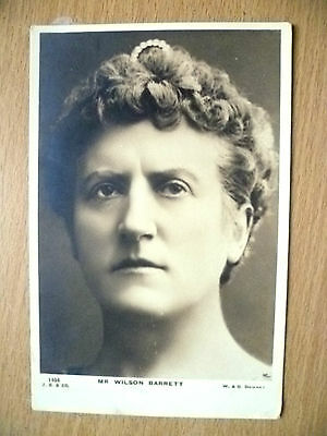 Postcard - Theater Actors MR WILSON BARRETT, No. 1404