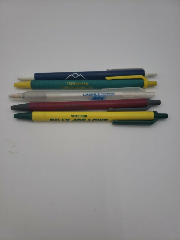 Lot Of 5 Advertising Pens Louisville Toppers St James Federal Savings And Loan