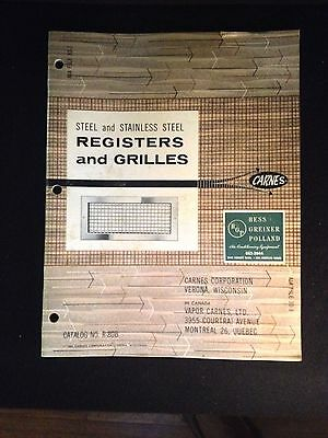 CARNES Steel and Stainless Steel Registers and Grilles Catalog R-80B 1960's Registers And Grilles