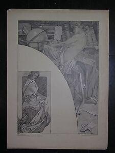 Alfons MUCHA figures décoratives Planche N° 40 - France - Type: Lithographie Authenticité: Original Genre: Art Nouveau - France
