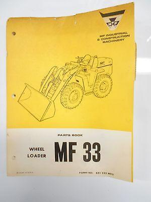 Massey Ferguson Parts Book Manual Mf 30 Wheel Loader Tractor 1970