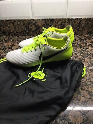 NIKE Magista Opus II SG PRO AC White/Black/Volt/Wolf Grey Football Boots 8.5 UK