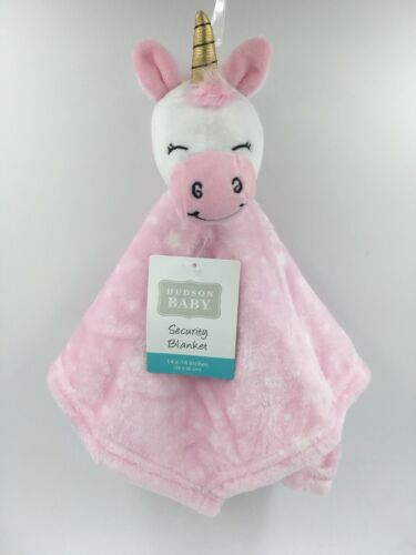 Hudson Baby Animal Friend Plushy Security Blanket, Pink Unic