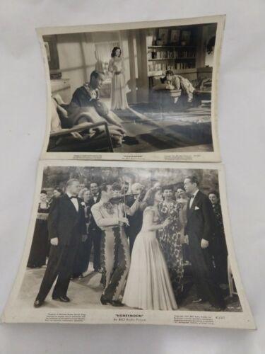 Lot of 2 1947 Original Movie Photo HONEYMOON RKO Franchot Tone Shirley Temple