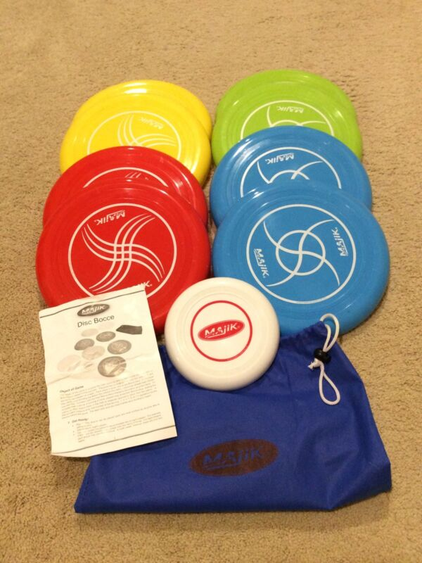 Majik Disc Bocce Ball-NEW-Carry Bag-Complete Set-Free Shipping Disc Golf
