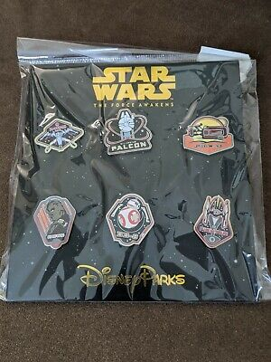 Disney Pin Trading Star Wars The Force Awakens 6 Pin Booster Pack