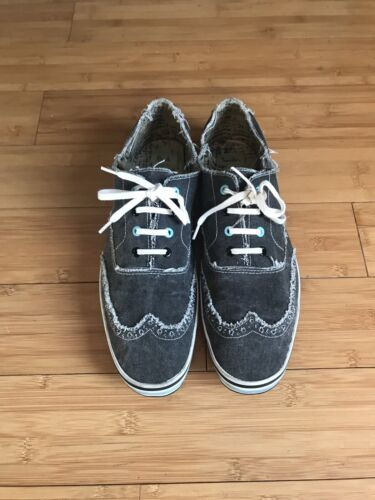 PAUL SMITH DISTRESSED CANVAS WING TIP SHOES UK SIZ