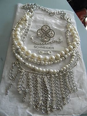 Premier Designs GIRL'S BEST FRIEND cz pearl necklace w/book RV $76 FREE ship