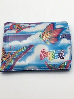 Vintage Lisa Frank Butterfly Wallet Blue (Has Flaws Plz Read Description) Rare