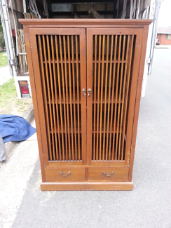 Asian style cabinet with fold in doors free delivery