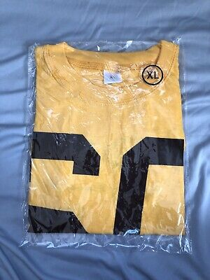 Denver Broncos 50th Anneversery-T Shirt-Yellow-XL 1960-2009-Game Gift New In Bag Yellow T-shirt Bag