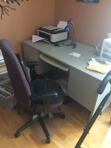 Desk and chair make me offer