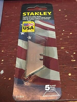 STANLEY, 5 Replacement Blades, Heavy Duty, Utility Blades, P