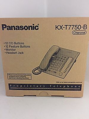 Panasonic Kx-t7750b Advanced Hybrid System Telephone New