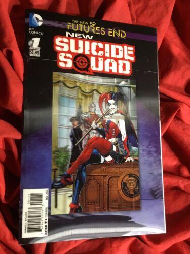 SUICIDE SQUAD FUTURES END #1~HARLEY QUINN~LENTICULAR 3-D VARIANT~1st PRINT~