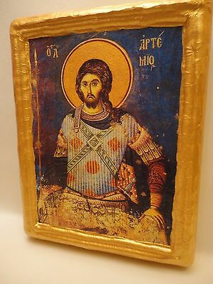 Saint Artemius Agios Artemios San Artemio Byzantine Greek Orthodox Icon On Wood