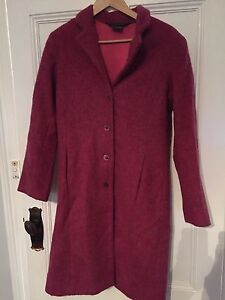 Laura Ashley mohair/wool blend coat (pink) size small (10-12) Balaklava Wakefield Area Preview