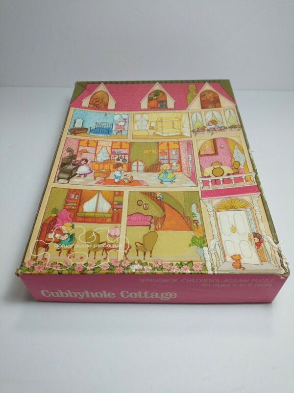 VTG 1973 Springbok Childs Jigsaw Puzzle Cubbyhole Cottage 100 Pc COMPLETE House
