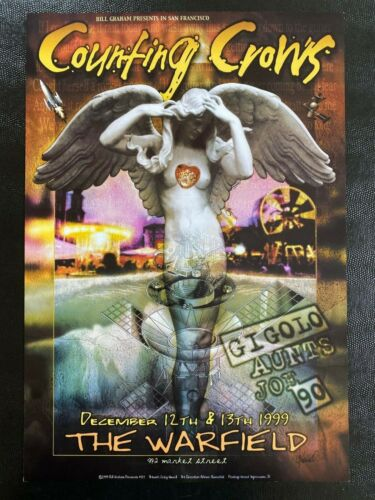 Counting Crows Poster from Market Street in San Francisco 1999 Concert