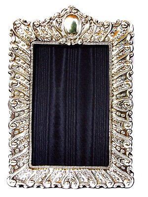 Stunning Large Finest Quality 999 Hallmarked Silver London Britannia Photo Frame