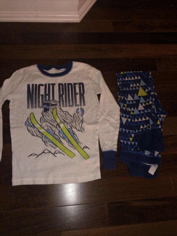 Gap Kids Boys Size 12 Pajamas Sleep Mountains Yeti Ski