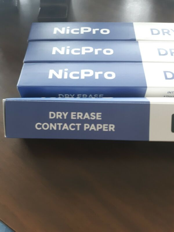 """Nicpro Dry Erase Contact Paper 17.7"""" X 78.7"""" (4 Packs)"""