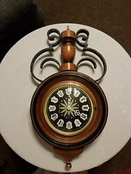 Hanging Wall Clock by Colonial Mfg. Co. of Zeeland chiming German Urgos movement