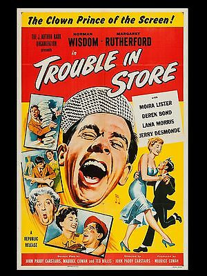"Trouble in Store Norman Wisdom 16"" x 12"" Reproduction Movie Poster Photograph"