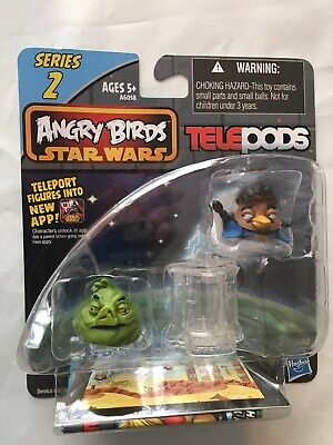 Angry Birds Star Wars Telepods Series 2  Jabba the Hut pig and Lando Calrissian