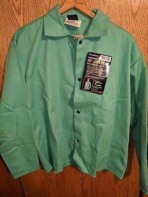 Tillman 6230 36 9 Oz. Green Fr Cotton Welding Jacket Size Xl